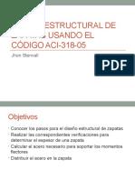 Diseño Estructural de Zapatas Usando Según El Código Aci318