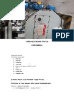 COAL PULVERIZING SYSTEM COAL FEEDER