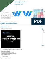 ASME IX practice questions - Exams - Welding Inspecions Community