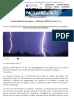 Considerações importantes sobre a ABNT NBR5419_2015 - Partes 3 e 4 - Termotécnica Para-raios