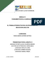 TRABAJO PRODUCTIVO EN LOS PROGRAMAS DE EDUCACION ADULTOS GRUPO #3
