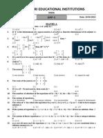 BITSAT DPP-5 DT 10-04-2015