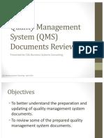 2. QMS Documents Review 2019