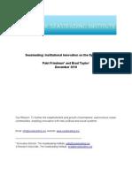 Seasteading - Institutional Innovation on the Open Ocean