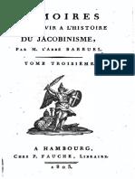 Barruel Augustin-Mémoires pour servir à l'histoire du jacobinisme-Tome 3