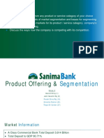 Sanima Bank Customer Segmentation