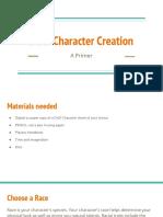 D&D Character Creation Primer