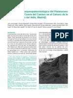 El yacimiento arqueo-paleontológico de la Cueva del Camino