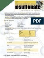 Lignosulfonate Dust Control and Road Stabilization
