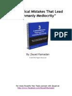 Critical Mistakes Mediocrity eBook