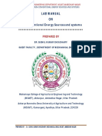 Lab Manual (TME-426) Non-conventional Energy Sources and systems