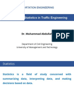 Lecture 12 - Statistics in Traffic Engineering