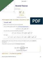 Teorema binomial - simples abordagem