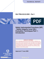 ISA TR 84840002 P1Safety Instrumented Functions (SIF)