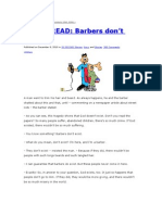 20 SEC READ- Barbers don't exist