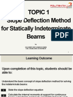 1 SLOPE DEFLECTION METHOD FOR STATICALLY INDETERMINATE BEAMS