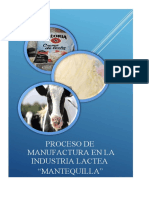 MANTEQUILLA -MANUFACTURA