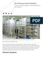 Filter Types for the Pharmaceutical Industry _ Water Tech Online