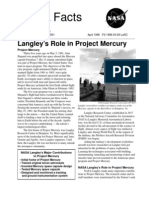 NASA Facts Langley's Role in Project Mercury