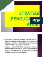 Pembentangan Bm Kont - Strategi Pengucapan Awam