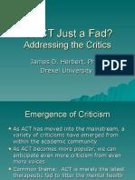 ACT_as_a_Fad