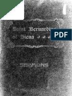 Sermons of St. Bernardino of Siena