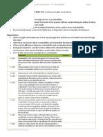 Sustainability Worksheet