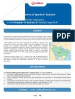 2019 11 20 - Electrical Maintenance and Operation Engineer