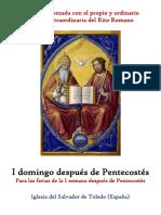 I Domingo Después Pentecostés Propio y Ordinario