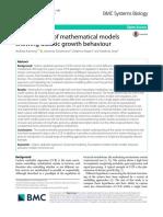 2018 - Kremling - An ensemble of mathematical models showing diauxic growth behaviour