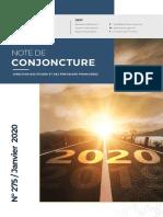 Conjoncture Janvier 2020 Maroc