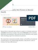 VOA_Medicinal Cannabis Not Proven in Mental Health