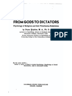 From Gods to Dictators; Psychology of Religions and their Totalitarian Substitutes (1944)
