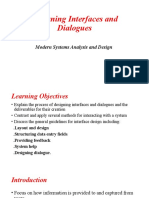 Designing Interfaces and Dialogues 3