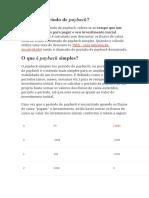 PAYBACK SIMPLES E DESCONTADO
