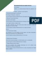 OBRAS LITERARIAS MÁS IMPORTANTES DEL MUNDO POETICO