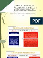 REQUISITOS LEGALES EN LICENCIAS DE MATERNIDAD Y PATERNIDAD