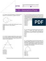 Simulado 25 - Geometria Plana