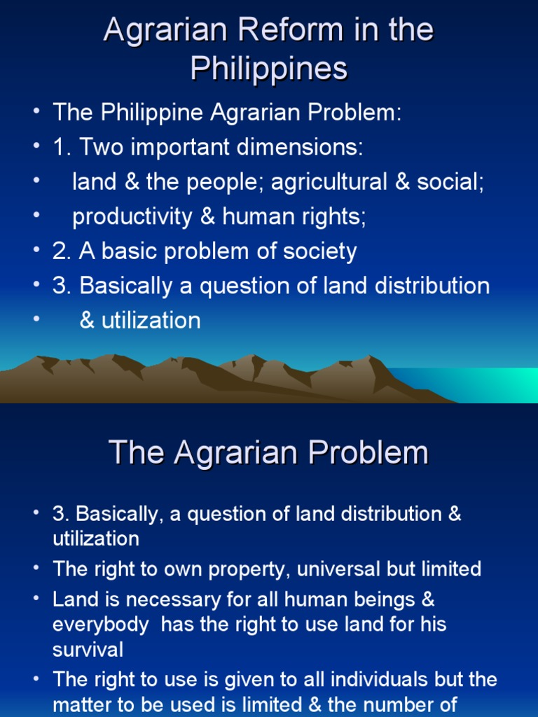 taxation and agrarian reform in the philippines