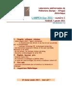 LAMPEA-Doc 2011 – numéro  / Vendredi 7 janvier 2011