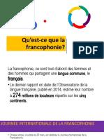 Qu'est-ce que la francophonie