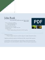 SI 520 - Lab 1 - About John Bonk