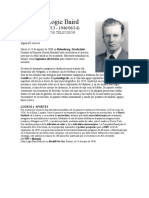 John Logie Baird  inventor television  biografia