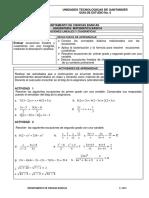 6. ECUACIONES LINEALES Y CUADRATICAS.ECUACIONES (1) (1)