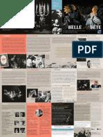 Plaquette La Belle et la Bête, de Jean Cocteau (par Jacques Aumont)