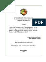 Tesis Manejo de Alimentación Complementaria- Jonathan Leonardo Iñiguez León