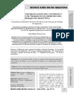 Fuentes de Regulación Del Contrato de Trabajo en Argentina - Autor José María Pacori Cari