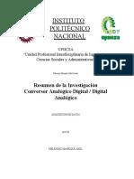 Resumen de la Investigación Conversor Analógico Digital / Digital Analógico
