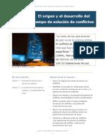 1 El origen y el desarrollo del campo de solución de conflictos