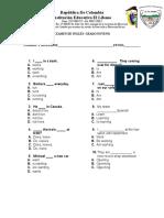 Examen de Inglés p4